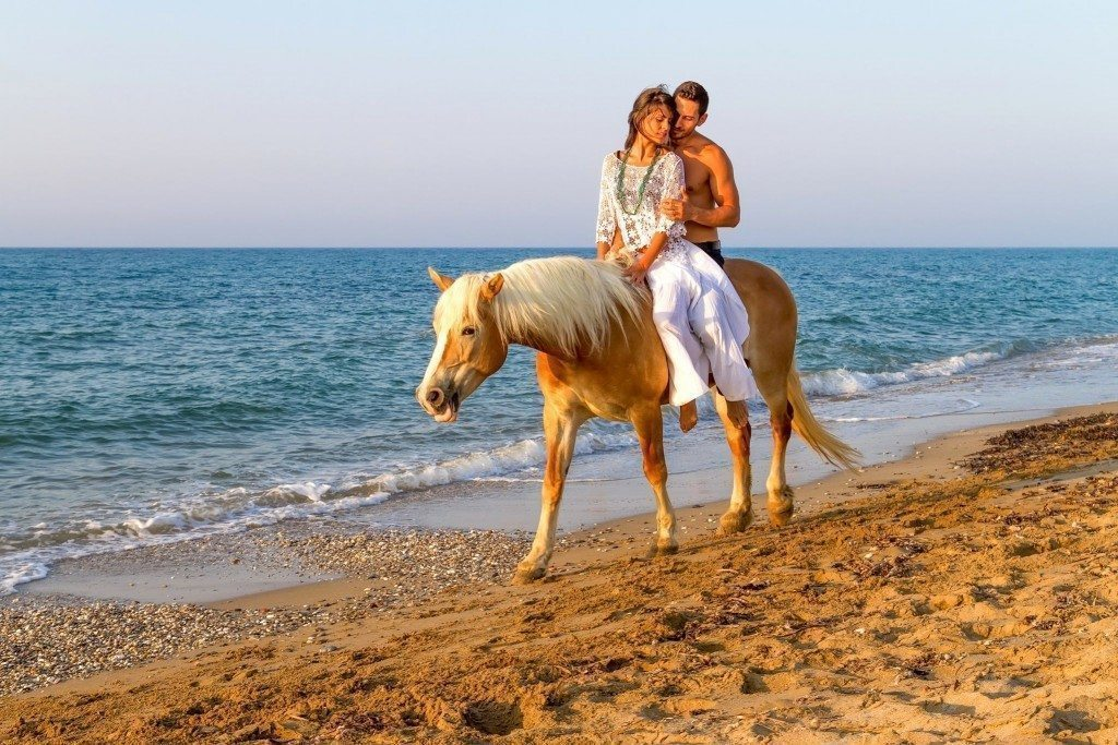 Horseback on Beach
